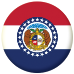 Missouri State Flag 58mm Mirror Keyring